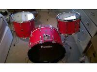 Big Vintage Premier drum kit (APK and Elite) 24x14, 14x12, 16x16