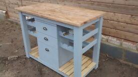Rustic kitchen island unit