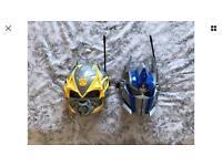 Transformers Intercom Masks - Bumblebee & Optimus Prime - Walkie Talkie Masks