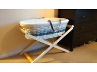 Mothercare Ombre moses basket (grey) and luxury stand