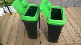 Two large storage bins/ pet or bird food
