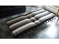 Single fold down/up foam mattress guest bed