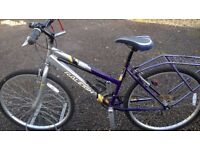 LADIES ADULT RALEIGH ROAD /TOWN BIKE IN VERY GOOD CONDITION lots of extras