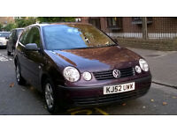 VOLKSWAGEN POLO 1.2 E 2002 52 REG MET RED 3 DOOR HATCHBACK 5 SPEED MANUAL PAS 95K MILES SUPERB
