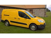 2010 Yellow 1.6Hdi Peugeot Partner van. Crew cab with long wheel base.