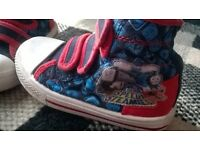 thomas the tank engine high top trainers, shoes