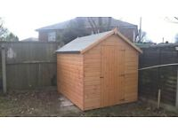 8' x 6' apex shed