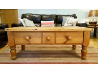 3 Draw Solid Pine Coffee Table