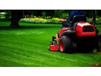Gardener / grass cutting / garden