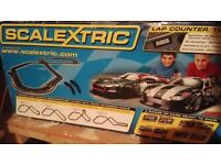 Scalextrics set with two cars