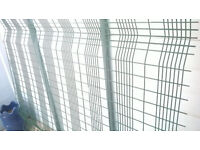 Security Mesh Fence Panels (Green) x 3