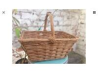 vintage French Wicker shopping basket,