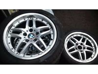 BMW CLUB SPORT CROMODORA 8.0J X 17 ALLOYS, ALLOYS IS IN AVERAGE CONDITION