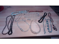 Large collection vintage necklaces