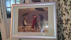 framed Jack Vetriano print of , The Singing Butler.