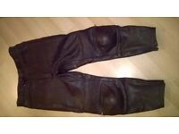 frank thomas leather trousers