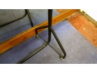Sturdy Rolling Metal Clothing Rack in Good Condition