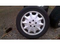 4 mercedes alloy wheels