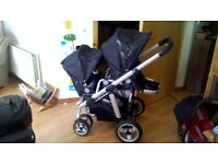 iCandy Apple TO Pear Black single/Double Pushchair With Rain covers