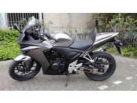 Honda CBR 500 RA-E 2014 Silver 13k, ABS, full honda service history, 2 keys, immaculate condition