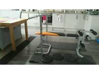 Weightlifting foldable bench with leg extension