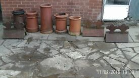 five chimney pots make great planters and wall toppings many more available