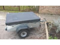 small trailer caddy 430 with spare wheel and cover. handy for camping, tip runs etc.