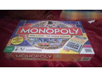 Monopoly, Here and Now. Pictionary. Articulate. Scrabble Original. 2 never played, all almost new.