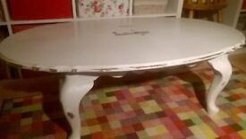 Shabby Chic Coffee Table Winter Grey 46x27.5x15.5in