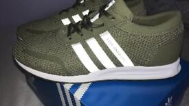 Adidas green/white Los Angeles trainers size 5 1/2