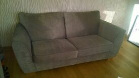 Large sofa and snuggle chair