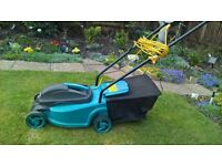 ELECTRIC MOWER,VGC,ALMOST NEW.SUITABLE FOR SMALL GARDENS