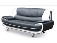 Three Seater Sofa Modern Faux Leather BRAND NEW