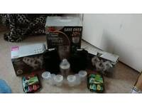 Large Tommie tippee sterilizing system with bottles and accessories