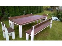 HAND PRODUCED DINING/COFFEE TABLES,BEDS,TV UNIT,DRESSERS,SIDEBOARDS,GARDEN&PATIO BENCHES FROM £49