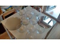 Wedding Sweetie Table / Centre Piece Glass Bowls & Mirrors