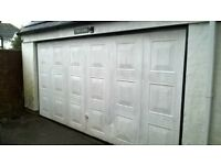garage door , double, electric up and over
