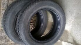 continental tyres, nearly new