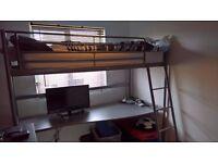 Svarta Loft Bed Frame and Desk Top