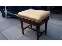Antique piano stool adjustable height central London bargain