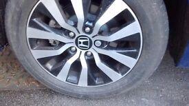 Honda Civic 2016 Wheel & Tyre 205/55/16r