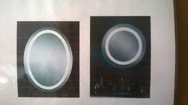 light up circular mirror