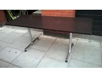Four Kusch Co tables with fixed chrome legframes 180cm wide by 70cm central London bargain