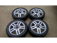 4x 16 inch Ford Alloy Wheels + Tyres (Recent Refurb)