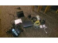 Sky,plusnet routers and house phone with cables