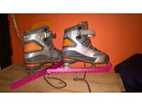 size 5 ladies ice skating boots very good condition