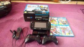 Black Wii U 32GB bundle, with game & accesories