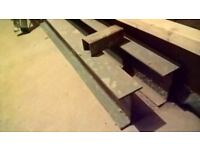 New / Unused RSJ Steel section for house extension. 2600mm long (178mm x 100mm). With Spacers.