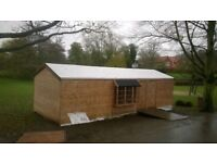 Wooden garden shed 33x12 avaible as small units 12x10, 13x10and 23x10