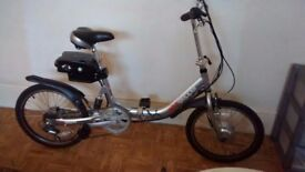Eco-stepper folding electric bike, practically brand new. Only used a few times